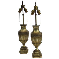 Silver Gilt Classical Urn Lamps