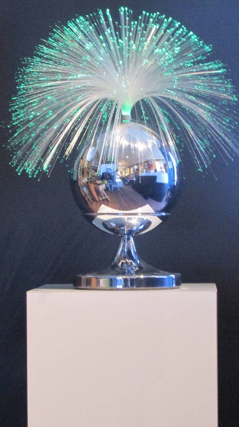 Fantasia Fiber Optic Rotating Lamp At 1stdibs