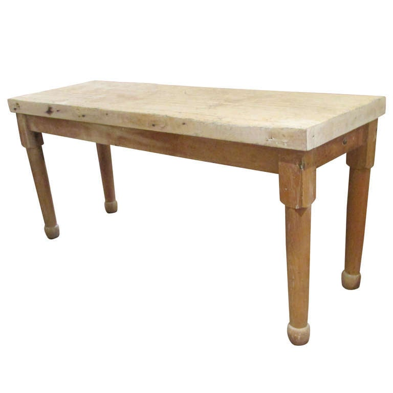 Antique American Butcher Block Work Table at 1stdibs