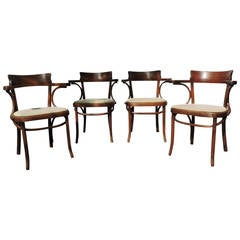 Classic Antique Thonet Bentwood Cafe Armchairs