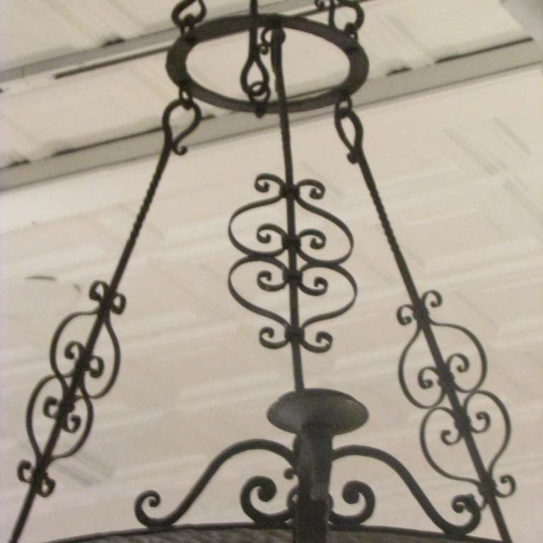 French Forged Iron Chandelier For Sale 4