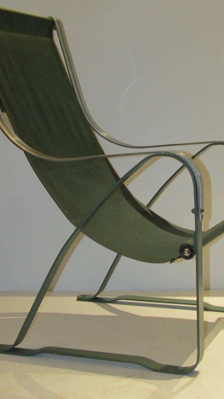 Industrial Machine Age Mckay Craft Sling Chair For Sale At 1stdibs