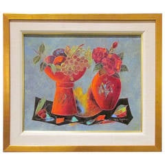 Mid Century Modern French Still Life Painting