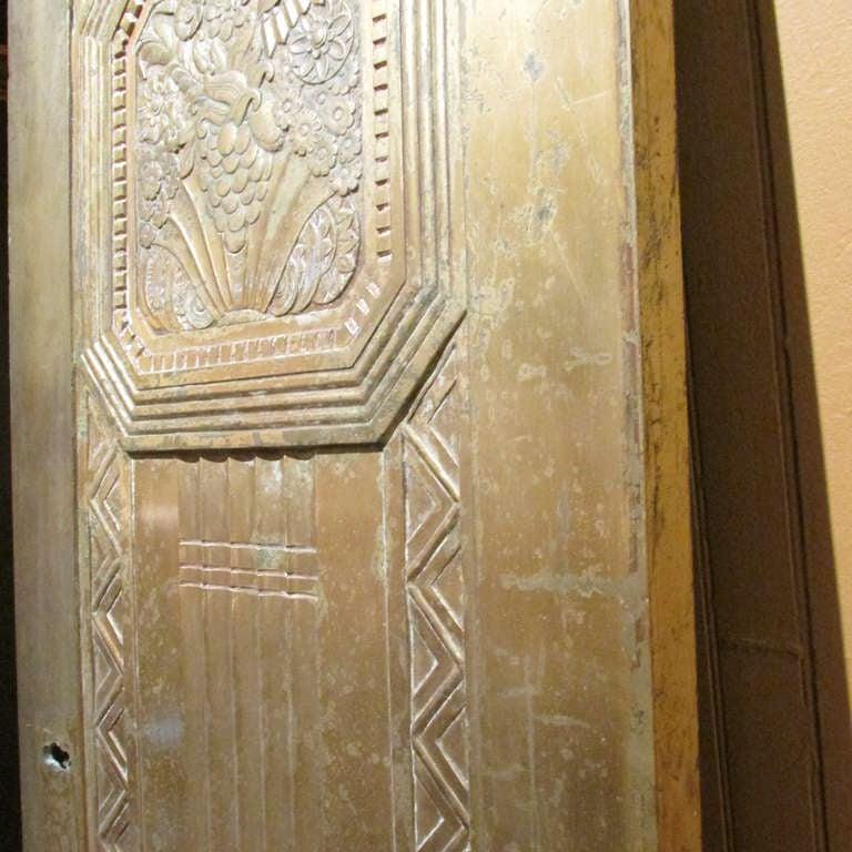 Art Deco Bronze Door For Sale 2