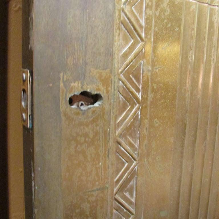 Art Deco Bronze Door For Sale 4