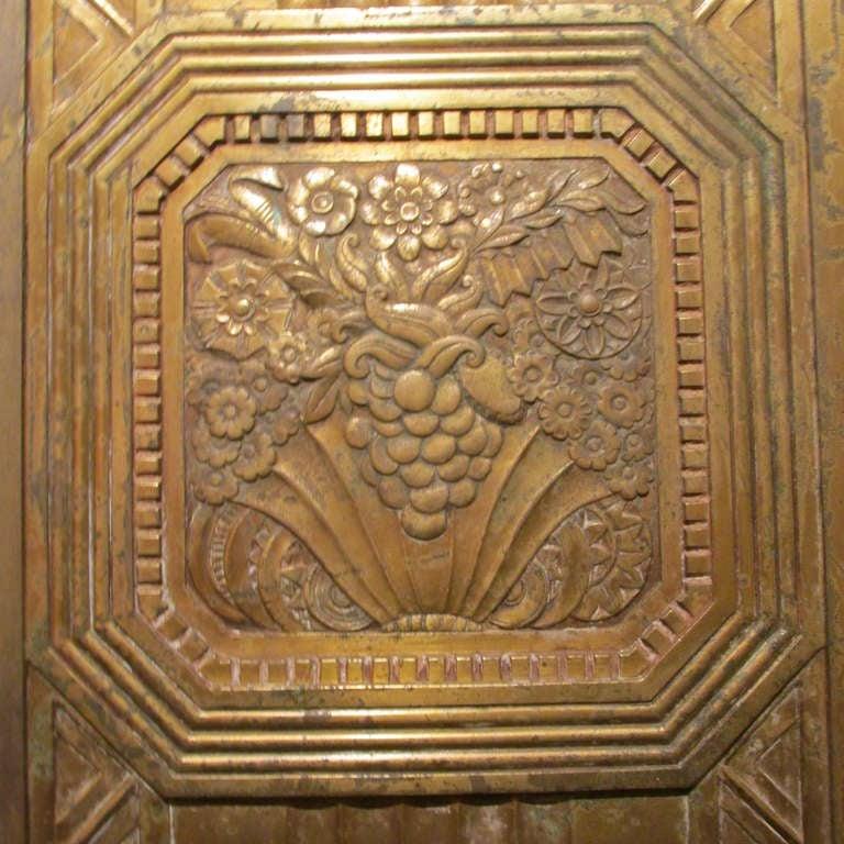 Art Deco Bronze Door In Good Condition For Sale In Rochester, NY