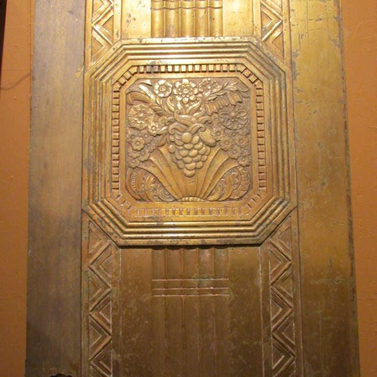 20th Century Art Deco Bronze Door For Sale