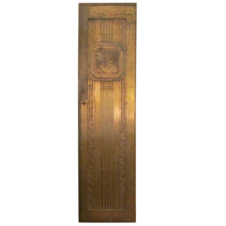 Art Deco Bronze Door For Sale