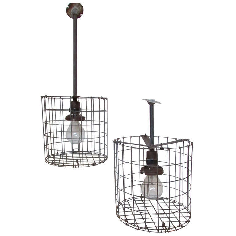 1930 u0026 39 s american industrial cage lights for sale at 1stdibs