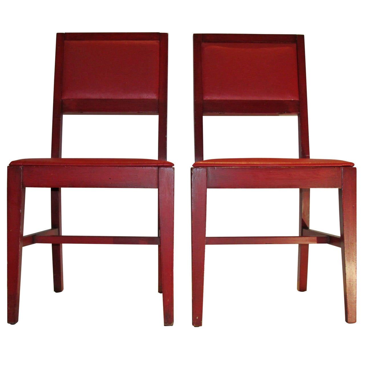 1940 s Modernist Red Chairs from Marshall Fields at 1stdibs