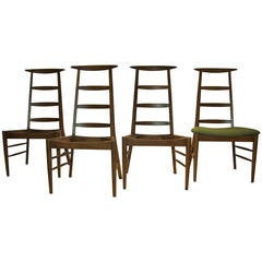Crescent Top Tall Ladder Back Chairs