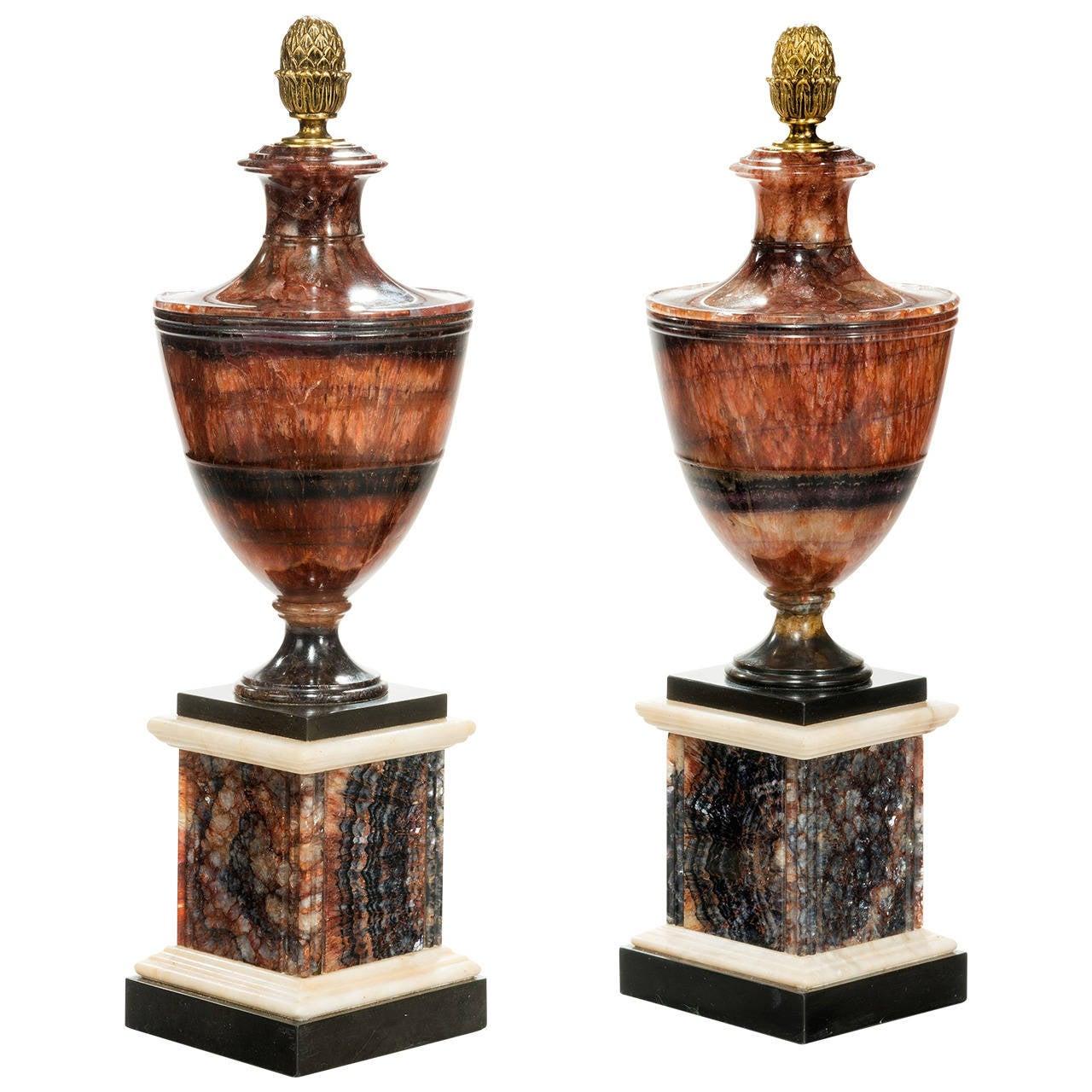 Antique blue john urns for sale at 1stdibs - Large decorative vases and urns ...