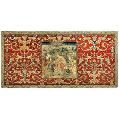 Antique Embroidery, Susanna and the Elders