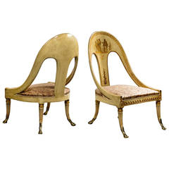 Pair of Antique Roman Style Chairs