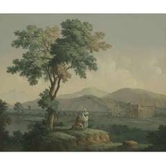 Antique Grand Tour 'Temples at Paestum'