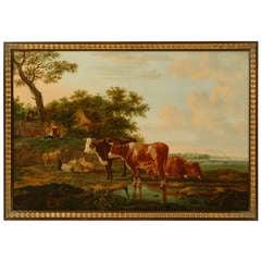 Antique Landscape with Cows