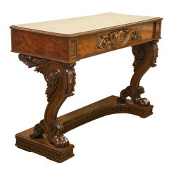 Elaborately Carved Mahogany Console Table Of Large Proportions Commissioned For Thomas Case