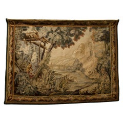 Aubusson Tapestry Depicting A Country Scene