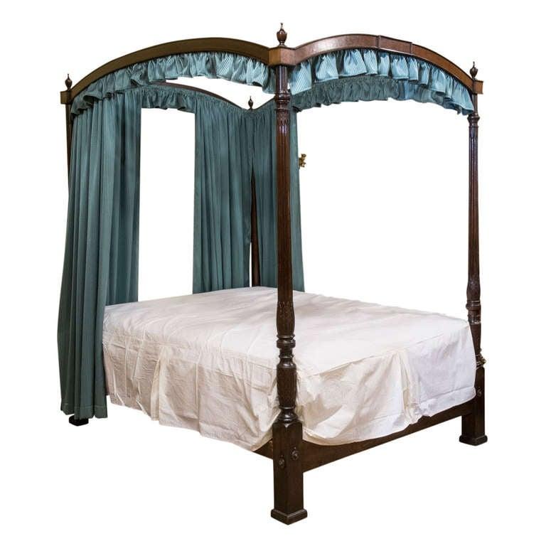 Georgian Mahogany Poster Bed 1