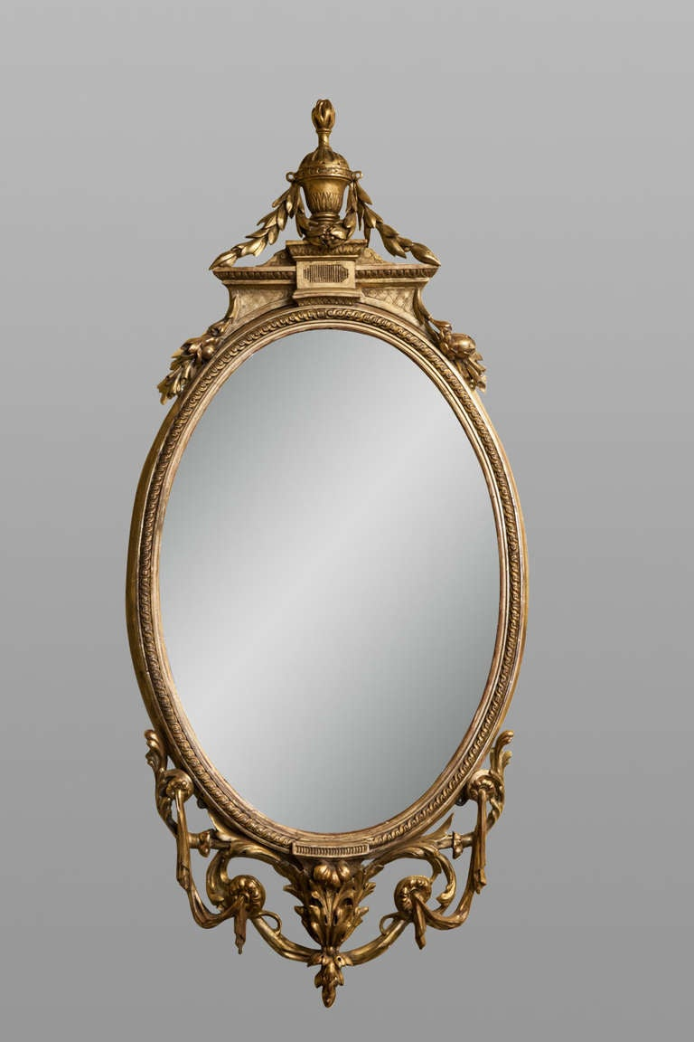 mid 19th century carved giltwood mirror for sale at 1stdibs