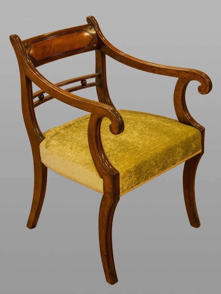 Set Of 10 Regency Mahogany Sabre Leg Chairs At 1stdibs