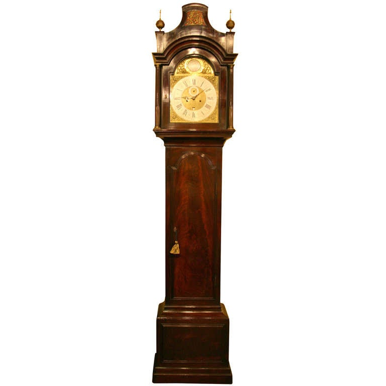 Mahogany Cased, Eight Day Longcase Clock at 1stdibs