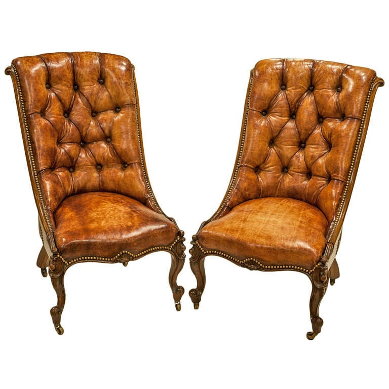 Pair Of Rosewood Drawing Room Chairs At 1stdibs