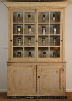 Large Painted French Cupboard - Mid 19th Century