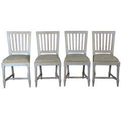 Set of Four Gustavian Stick Back Chairs