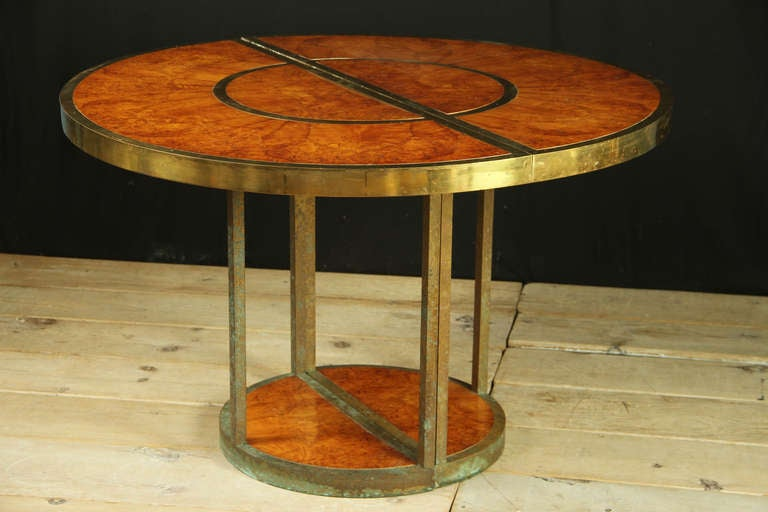 1970 39 S Italian Sectional Brass Dining Table Converts To Consoles Sofa Table At 1stdibs