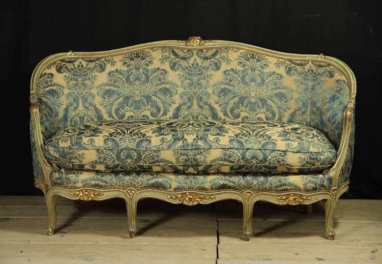 Late 19th century french louis xv style canape at 1stdibs for Canape style louis xv
