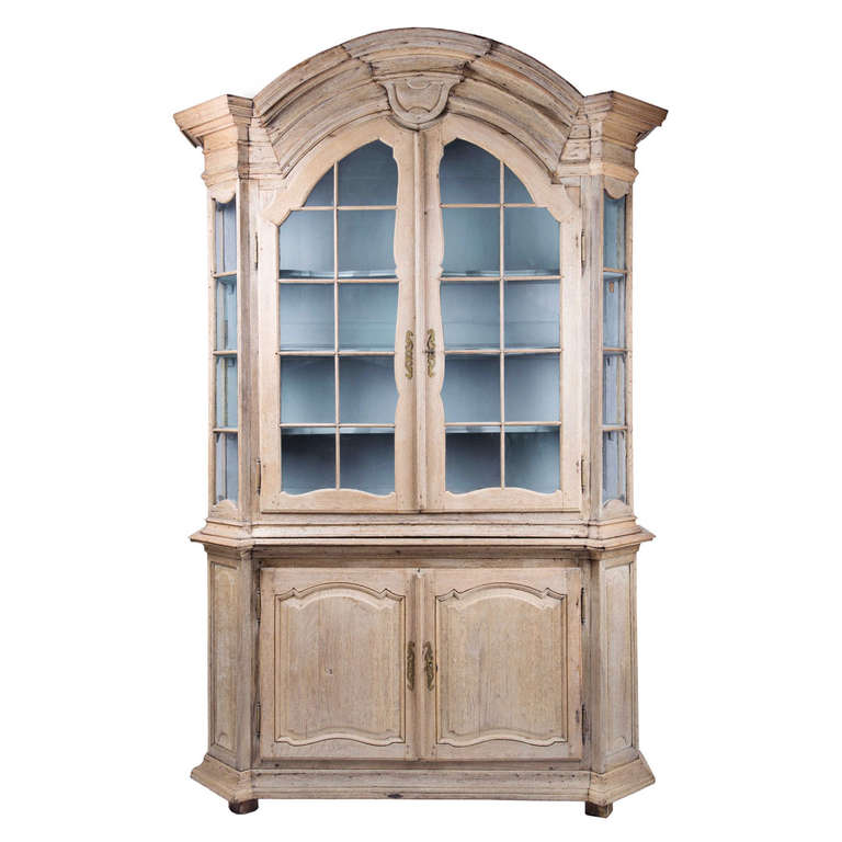Late 18th Century Bleached Oak Display Cabinet at 1stdibs