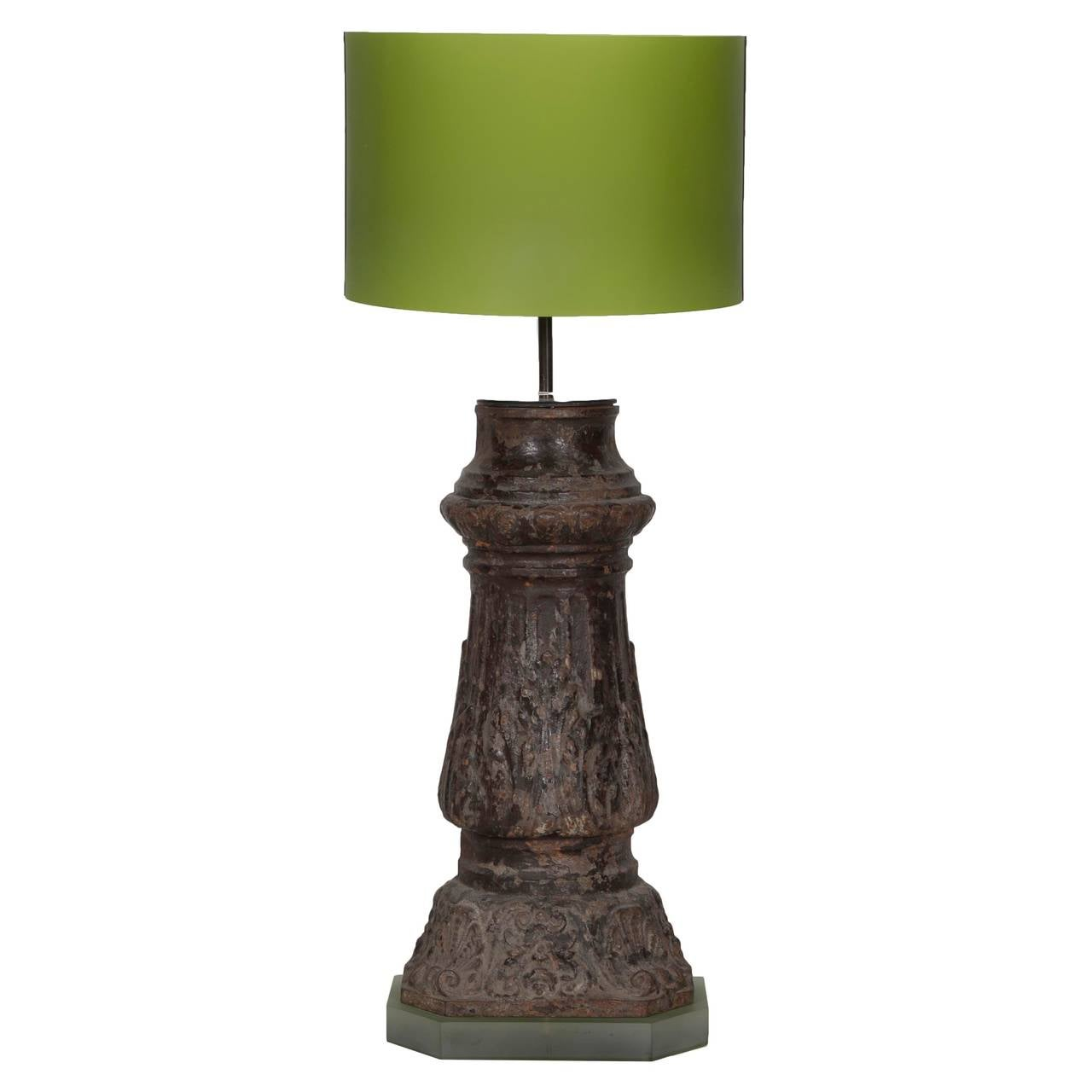 Pair of lamps created from a parisian street lamp post for Chair table lamp yonge st