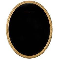 Regency Period Oval Gilt Mirror