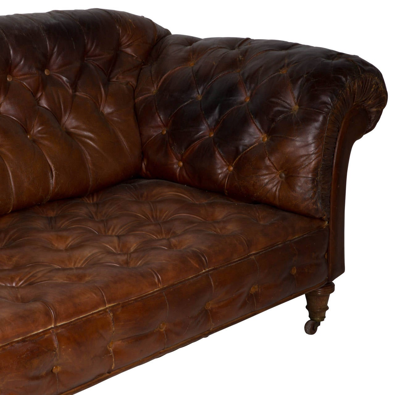 Leather Sofas Gloucestershire: Large Victorian Leather Sofa For Sale At 1stdibs