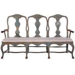 Swedish Rococo Chair-back Bench c.1760