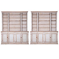 Pair of French Painted Bookcases