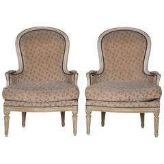 Pair of French Bergeres - Original Paint