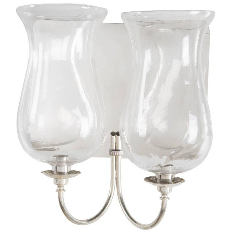 Silver Plated Wall Lights For Sale