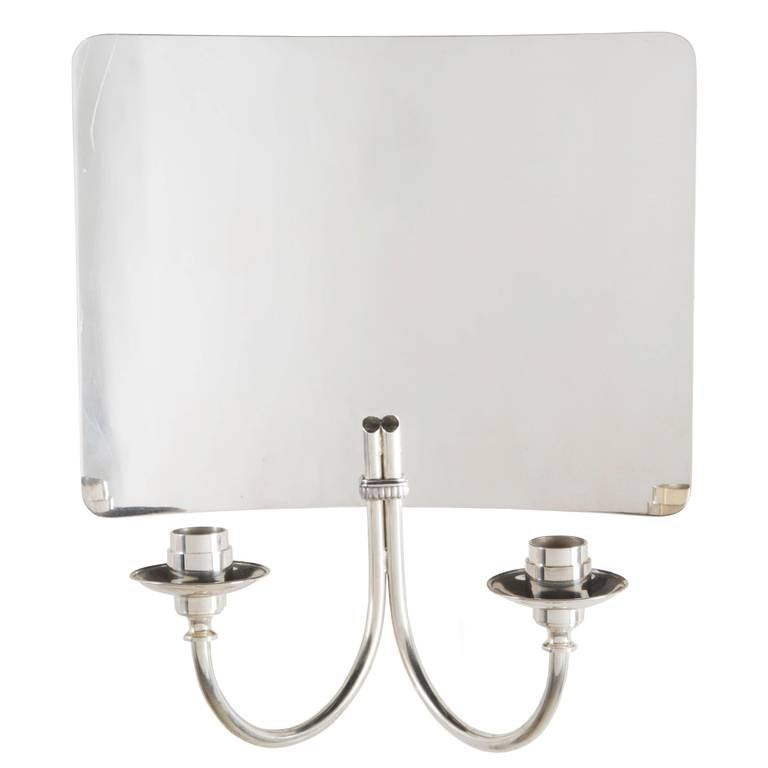 English Silver Plated Wall Lights For Sale