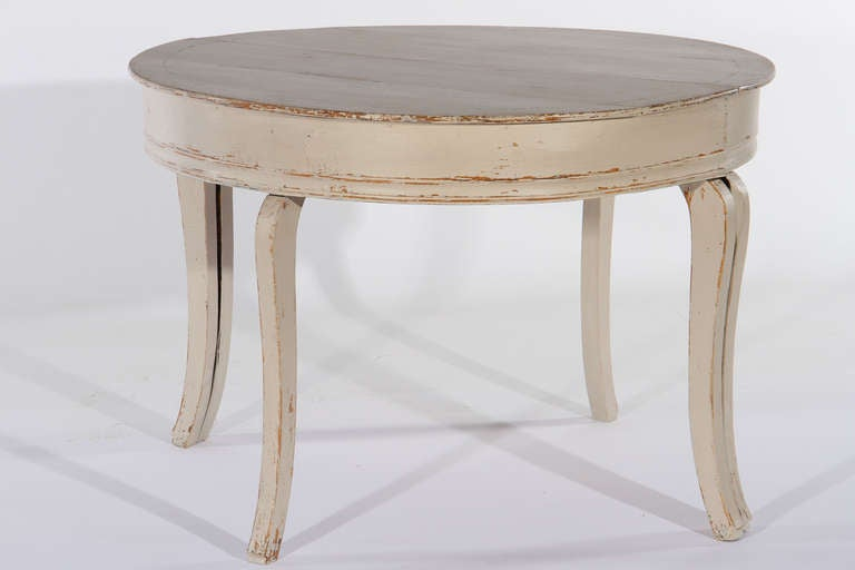 Swedish demi lune tables at 1stdibs - Table cuisine demi lune ...