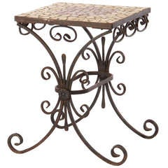 French Iron Occasional Table