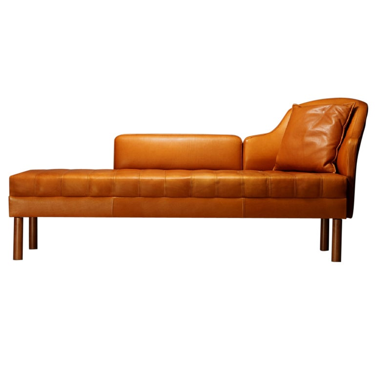 Orange chaise lounge chair superb japanese modern shop for Chaise longue orange
