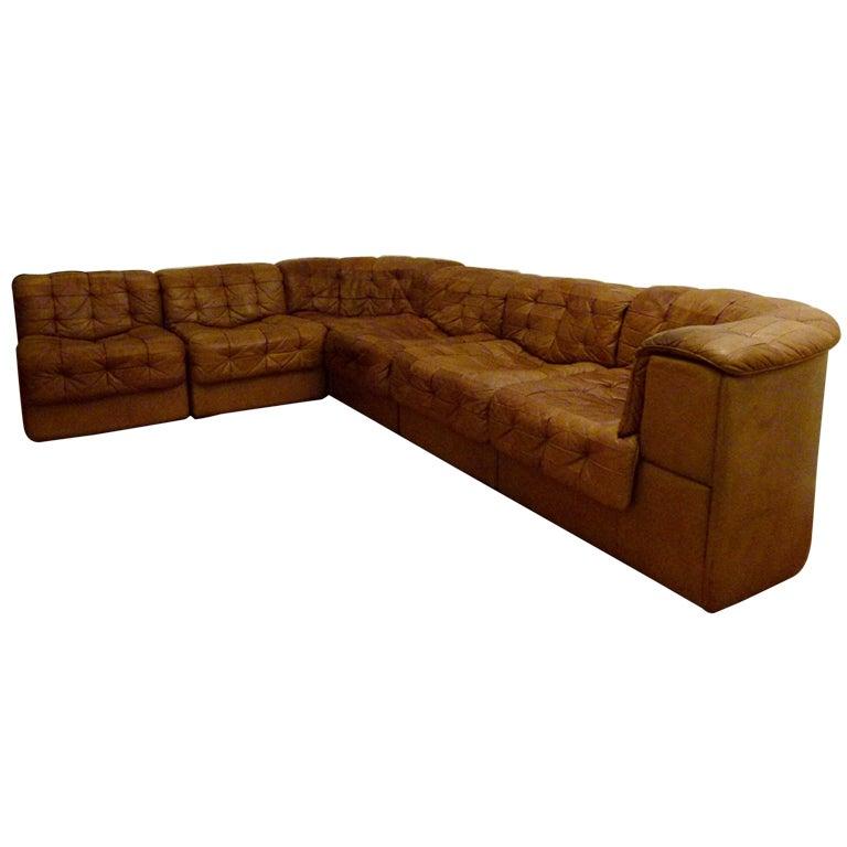 Vintage de Sede DS11 modular sofa c.1970's at 1stdibs
