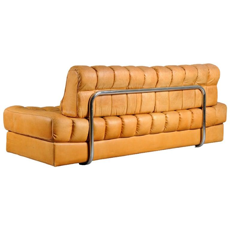 Vintage De Sede Sofa Bed Butterscotch Leather At