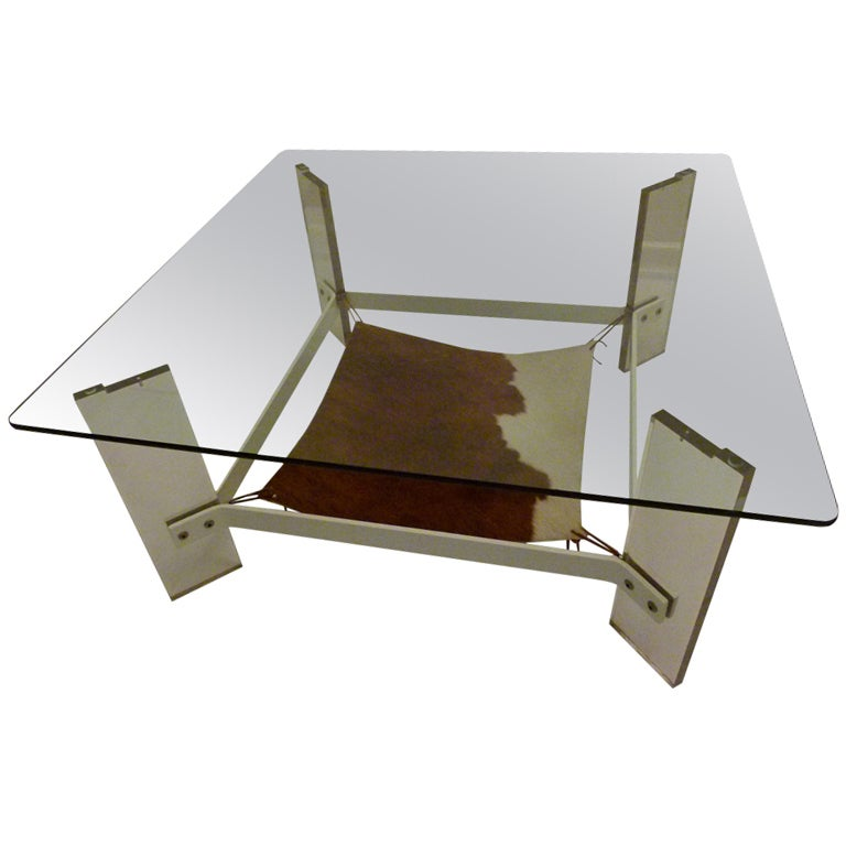 Vintage Lucite Coffee Table Denmark Circa Late 1960s Early 1970s At