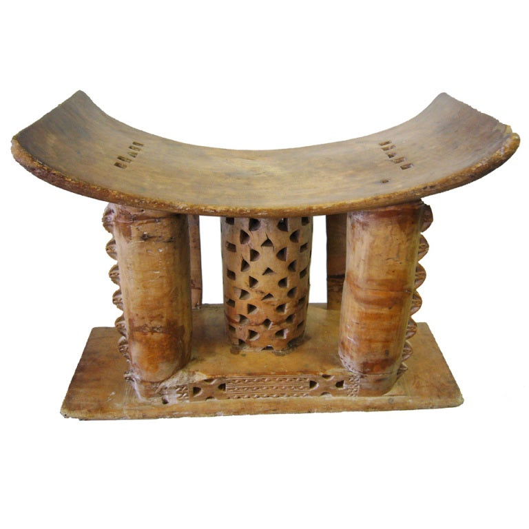 Rare Authentic Ceremonial Asante Stool At 1stdibs