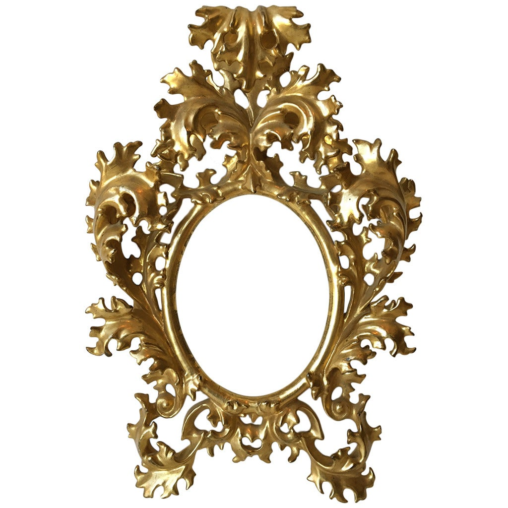 Very finest small florentine water gilt carved rococo for Rococo style frame