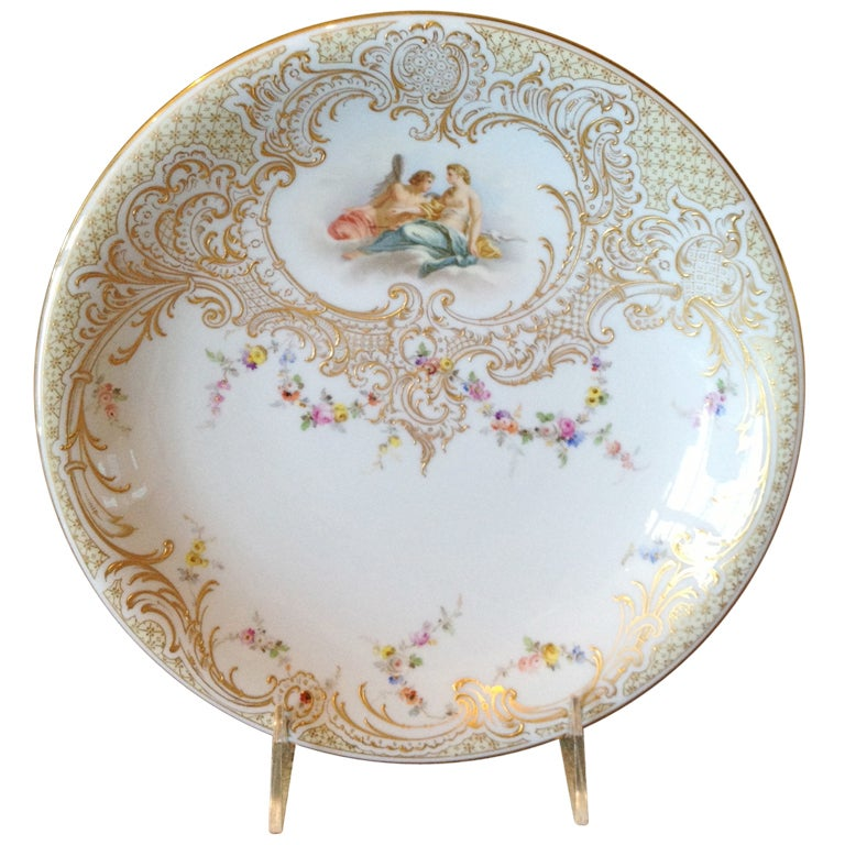Meissen Hand Painted Cabinet Plate Nudes ca. 1900