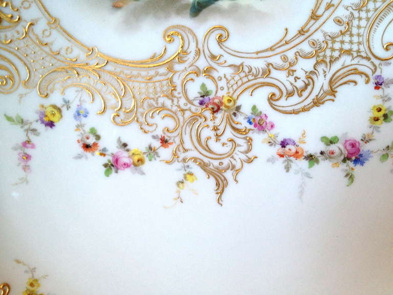 Meissen Hand Painted Cabinet Plate Nudes ca. 1900 image 5